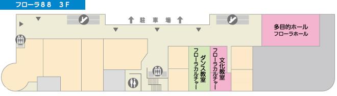 フローラ88 3階フロア図