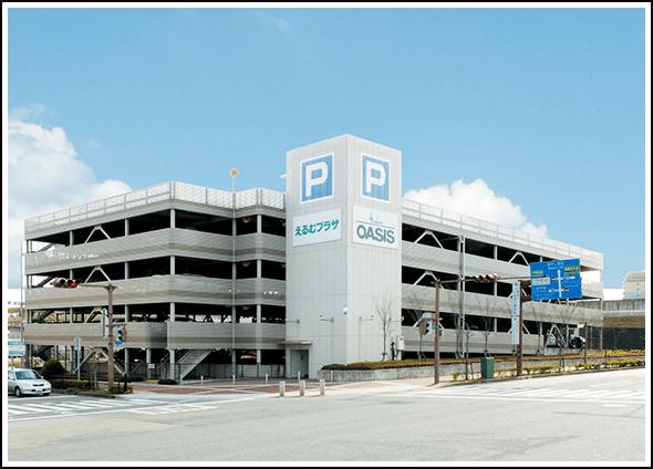 えるむプラザ駅前駐車場外観写真