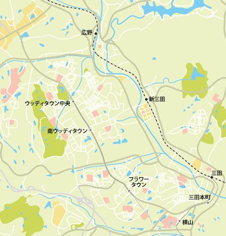 三田市地図